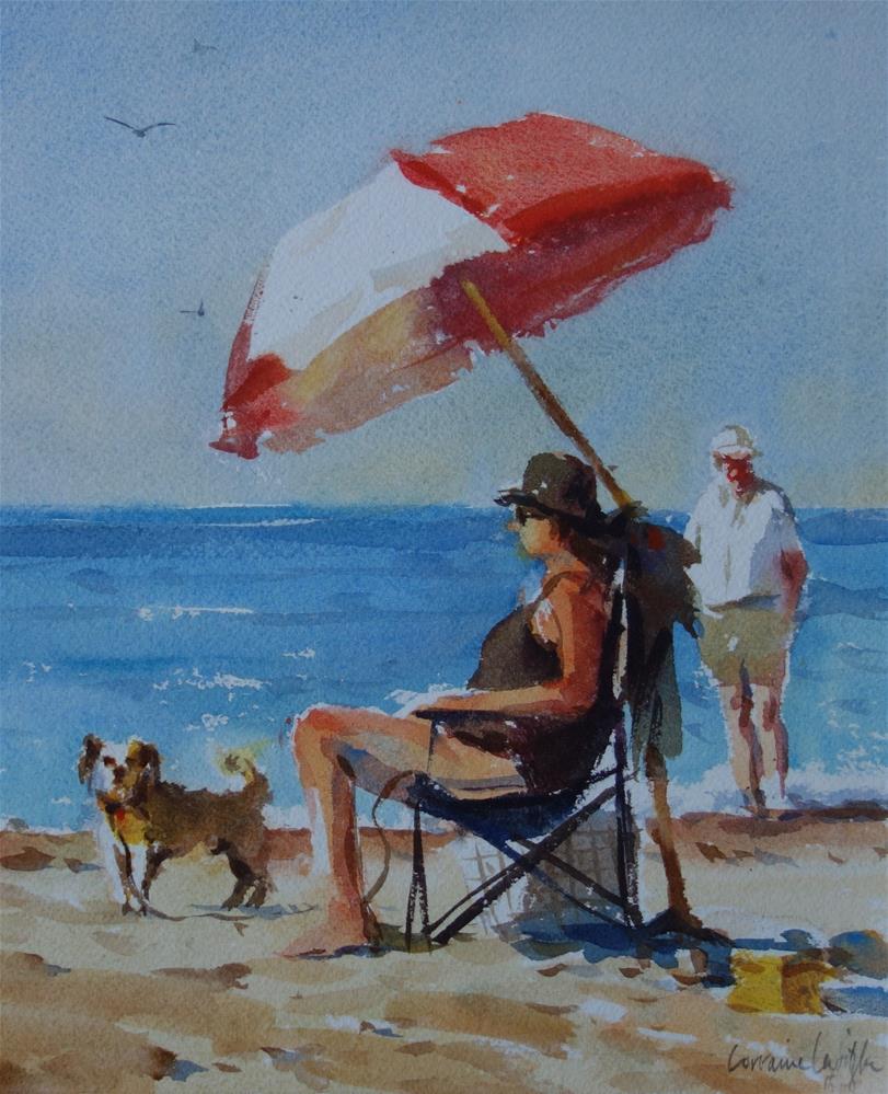"""""""Watch dog"""" original fine art by Lorraine Lewitzka"""