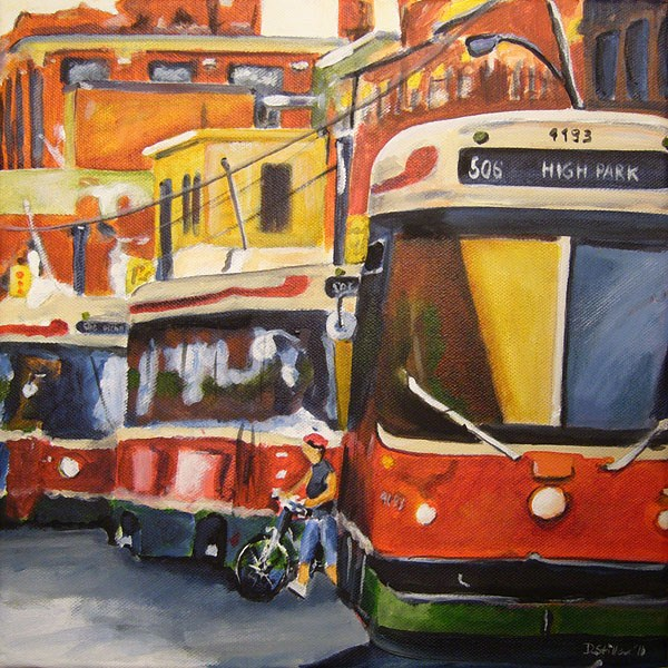 """0048 Streetcars"" original fine art by Dietmar Stiller"