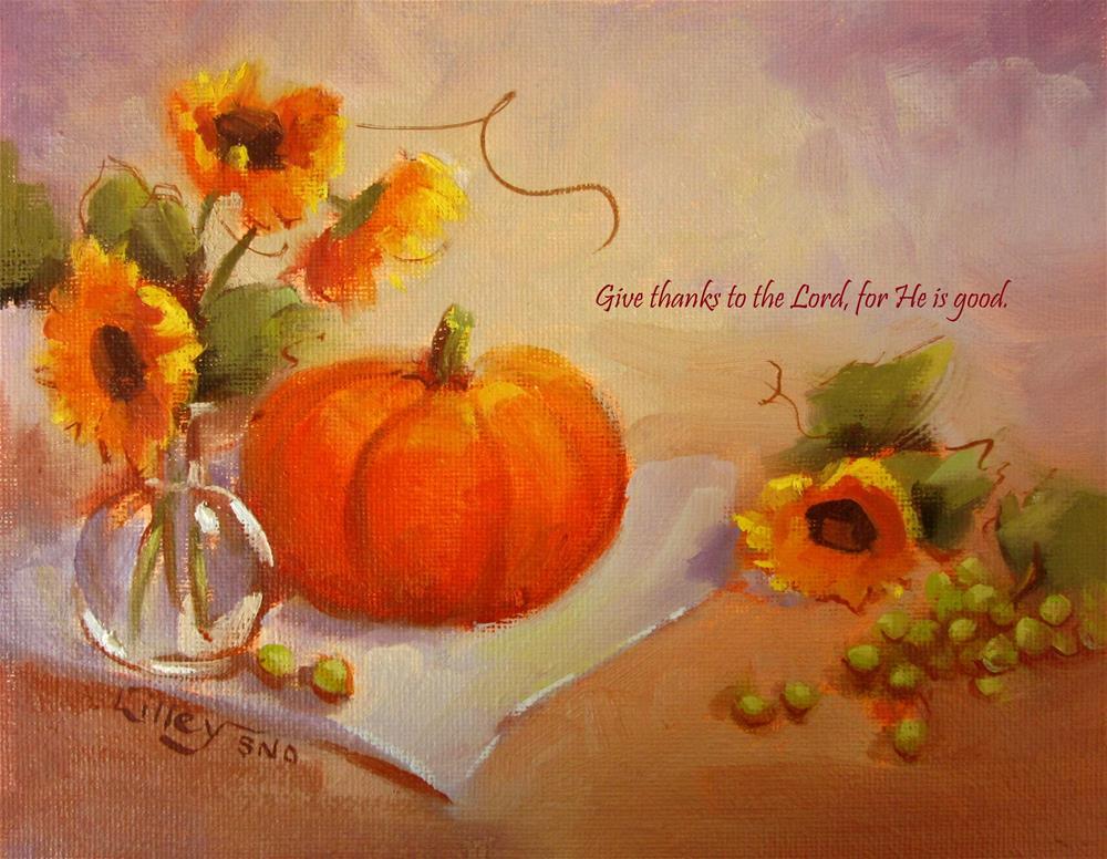 """Happy Thanksgiving"" original fine art by Maresa Lilley"