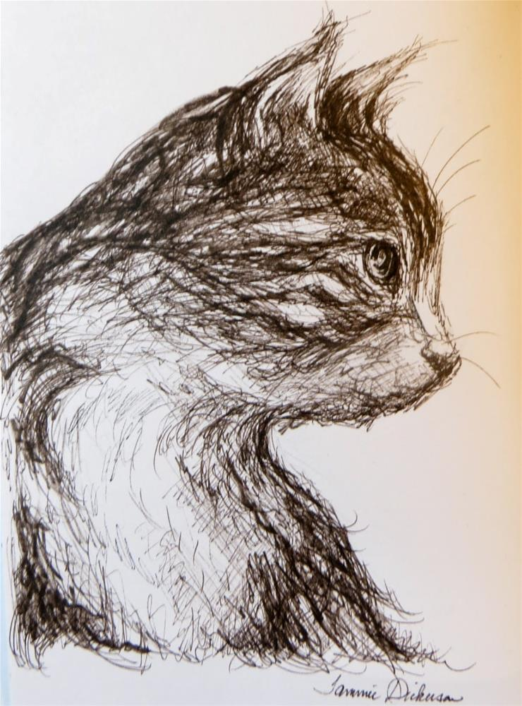 """Charlie in Ink"" original fine art by Tammie Dickerson"