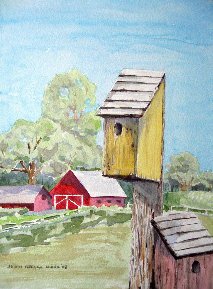 """Home Tweet Home"" original fine art by Judith Freeman Clark"