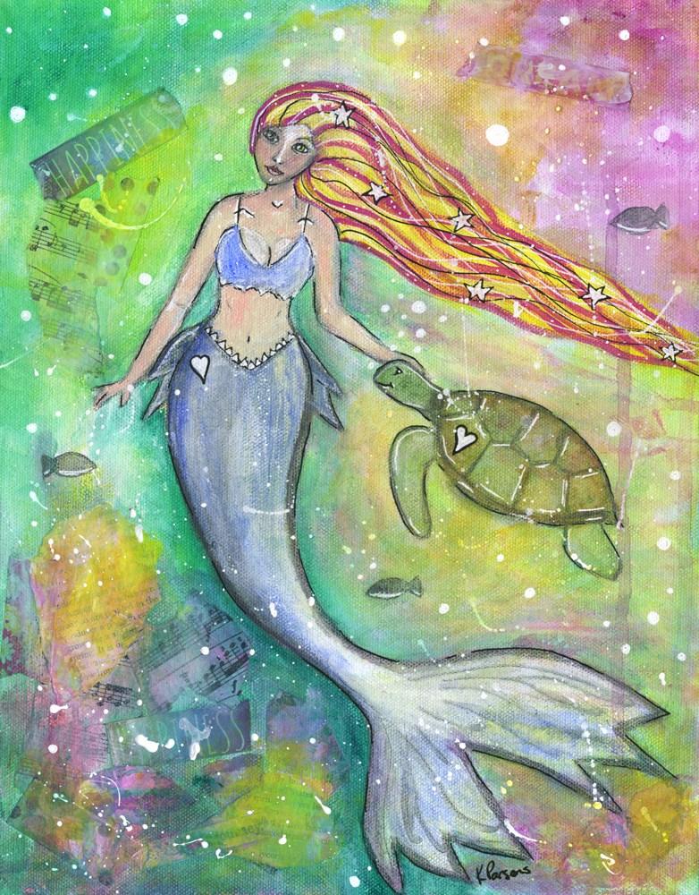 """Undersea Companions"" original fine art by Kali Parsons"