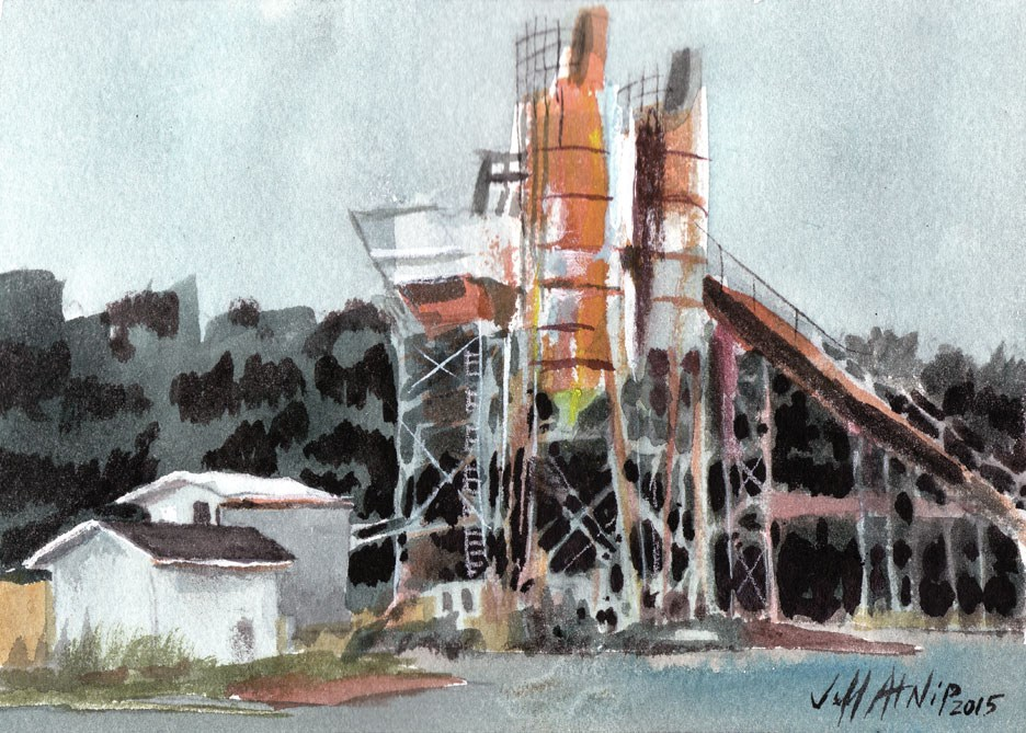 """Grain Processing"" original fine art by Jeff Atnip"