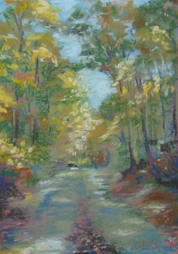 """Dappled Lane"" original fine art by Catherine Kauffman"