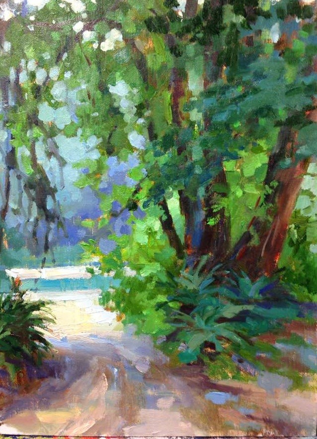 """Lake Quinault "" original fine art by Emiliya Lane"