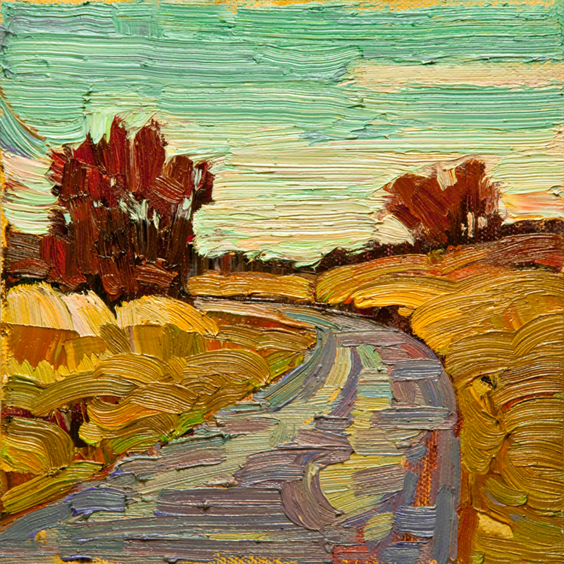 """Panama Fields 01: 6x6 oil on panel"" original fine art by Ken Faulks"