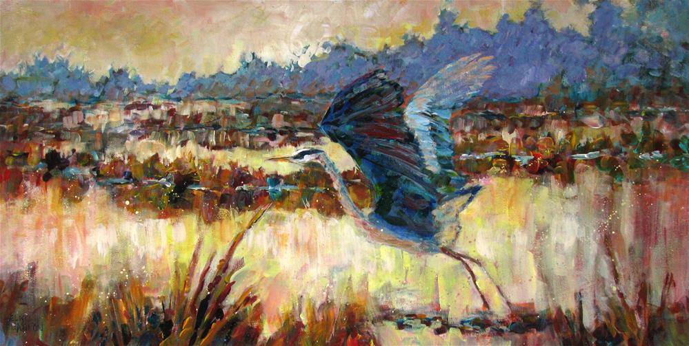 """Marsh Secrets"" original fine art by Melissa Gannon"