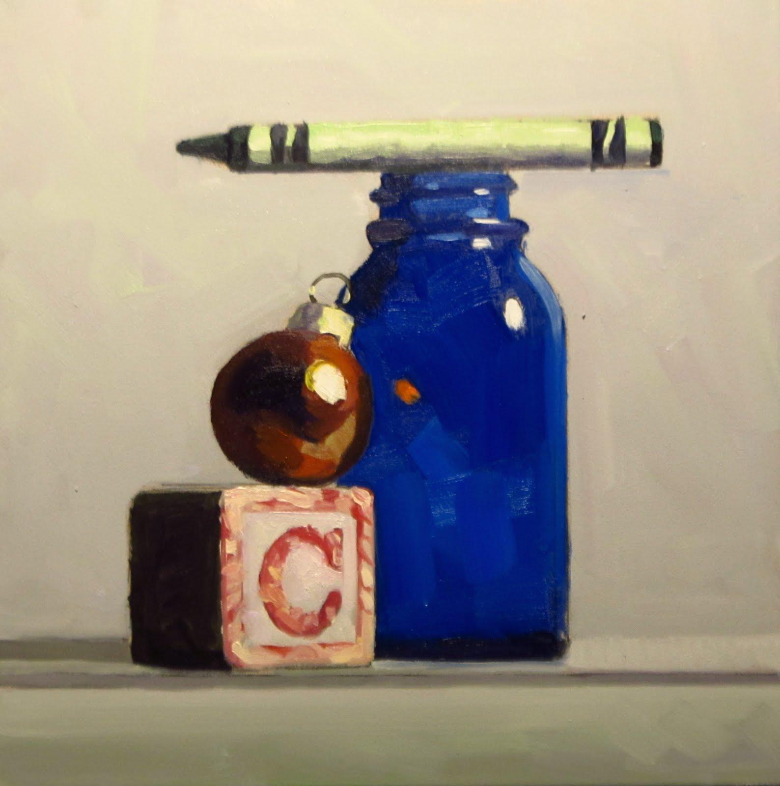 """DAILY DIAPER #224 Christmas In A Bottle"" original fine art by Brian Burt"