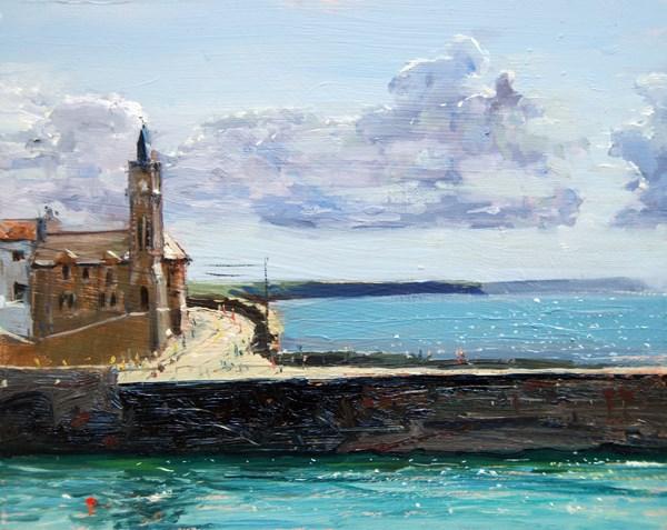 """Cornwall Series II (Porthleven)"" original fine art by Adebanji Alade"