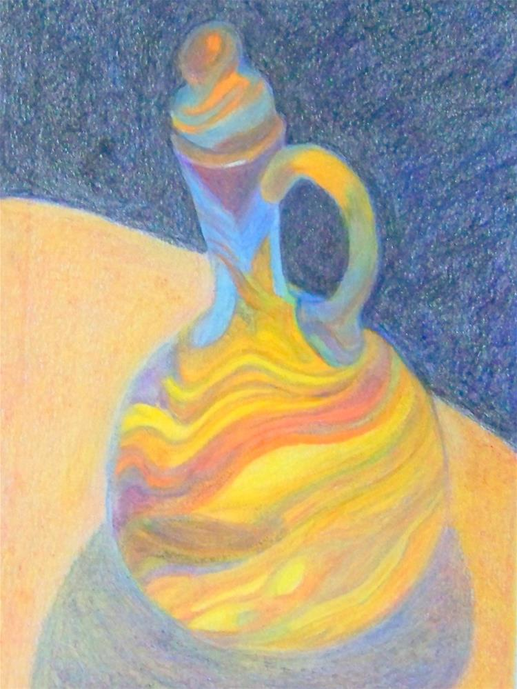 """Sarah's Bottle"" original fine art by Elaine Shortall"