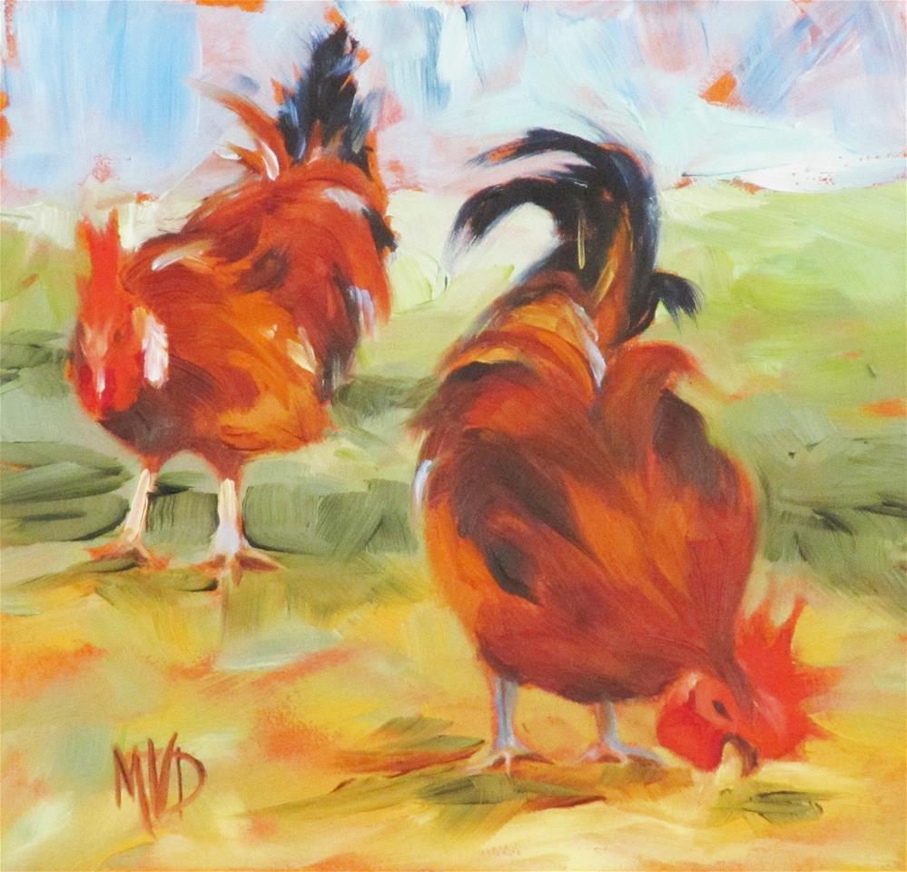 """Free Range"" original fine art by Mary Van Deman"