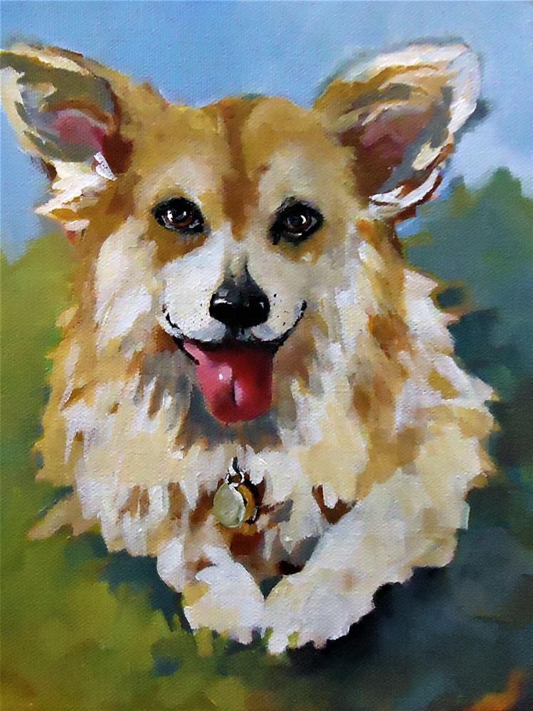 """Stanley"" original fine art by Laurie Mueller"