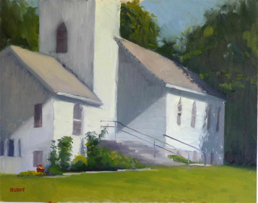 """Suomi Lutheran Church"" original fine art by Weston Hobdy"
