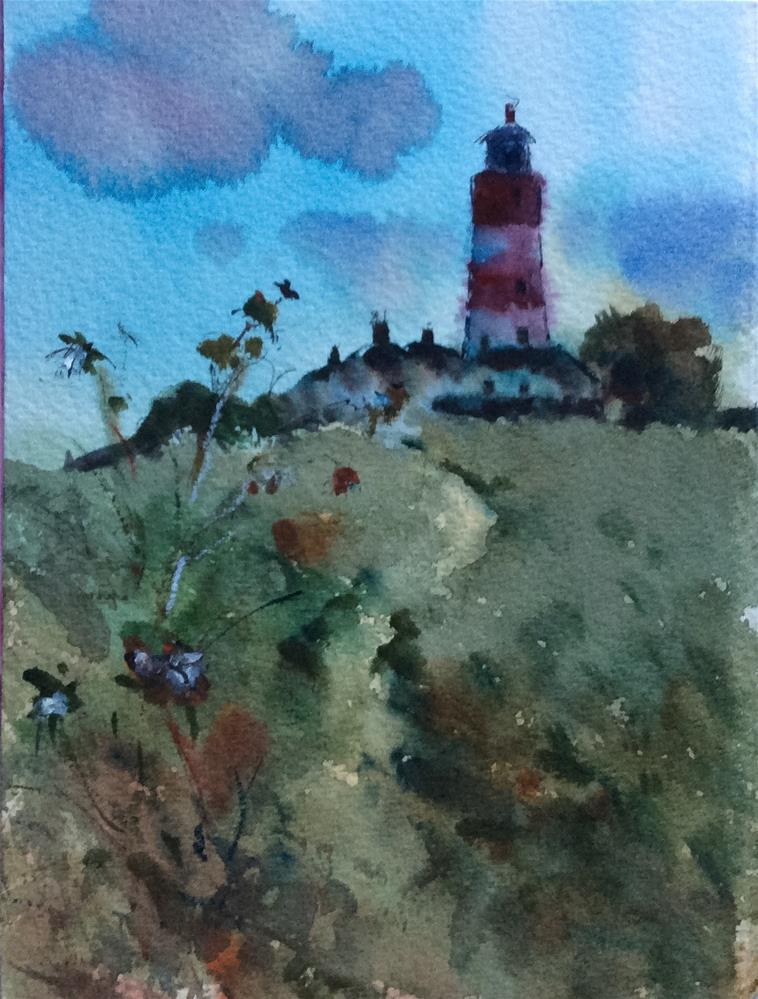 """The Lighthouse..Happisburg"" original fine art by John Shave"