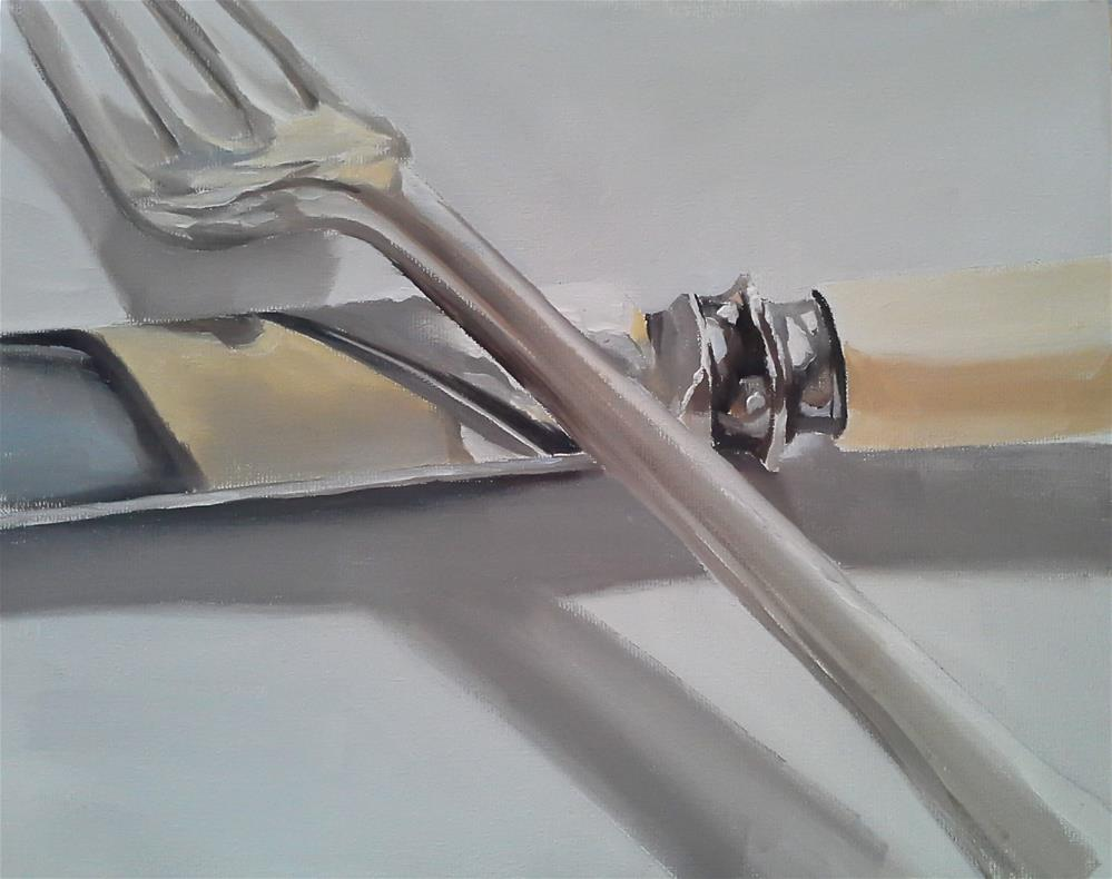 """Knife and Fork 2"" original fine art by James Coates"