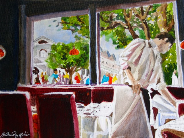 """Before the Rush"" original fine art by JoAnne Perez Robinson"