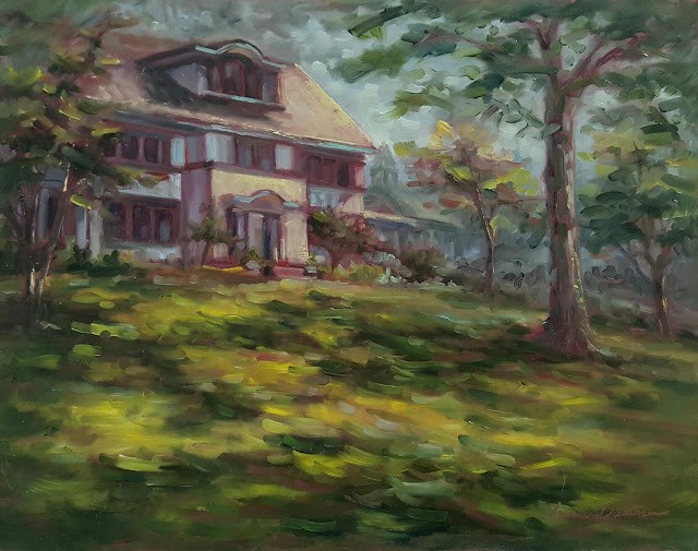 """House on the Hill"" original fine art by Tammie Dickerson"