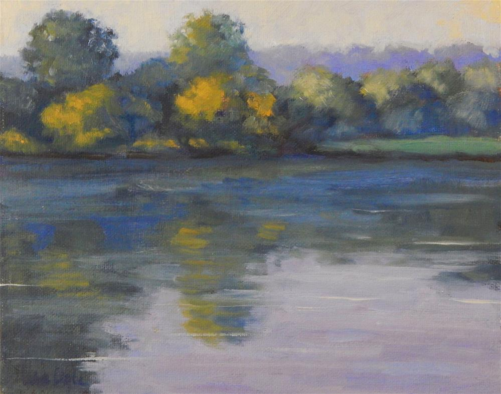 """""""Morning on the River"""" original fine art by Lisa Kyle"""