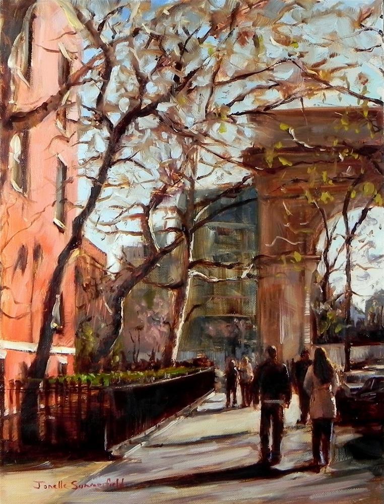 """""""Walking to the Park"""" original fine art by Jonelle Summerfield"""