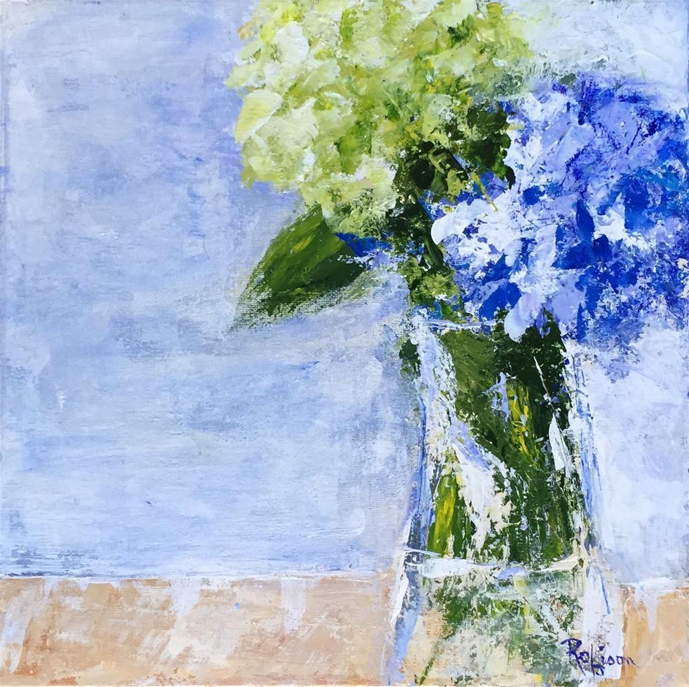 """""""Hydrangea Pair"""" original fine art by Renee Robison"""