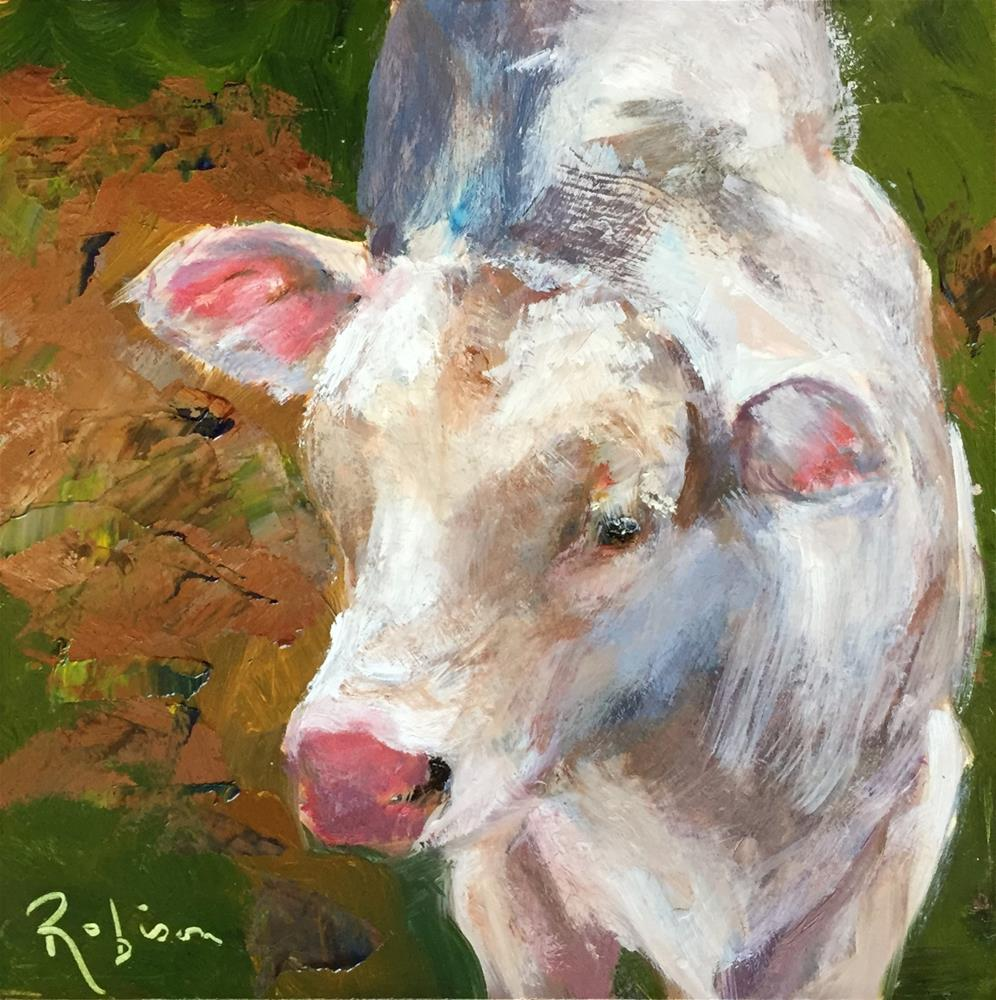 """Brenham Cow #1"" original fine art by Renee Robison"