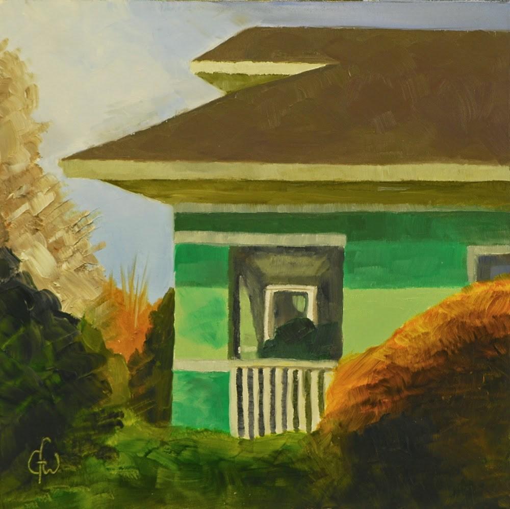 """Green House Next Door"" original fine art by Gary Westlake"