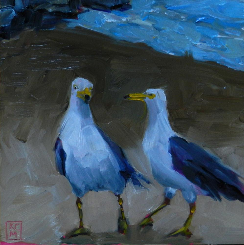 """Shall We Dance?, 6x6 Inch Original Oil Painting by Kelley MacDonald"" original fine art by Kelley MacDonald"