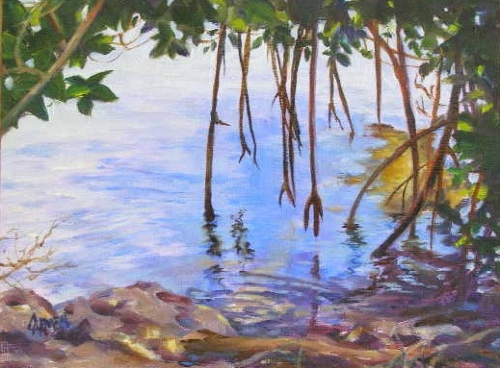 """Mangroves, 6x8"" original fine art by Carmen Beecher"