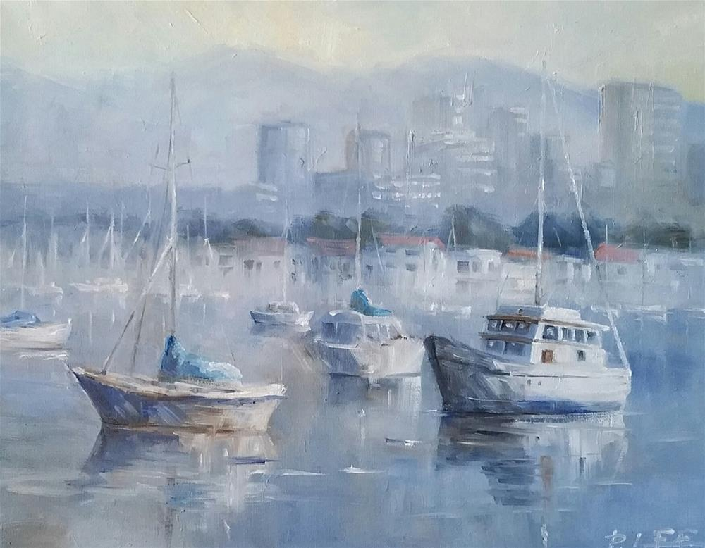 """Newport Harbor"" original fine art by Peter Lee"