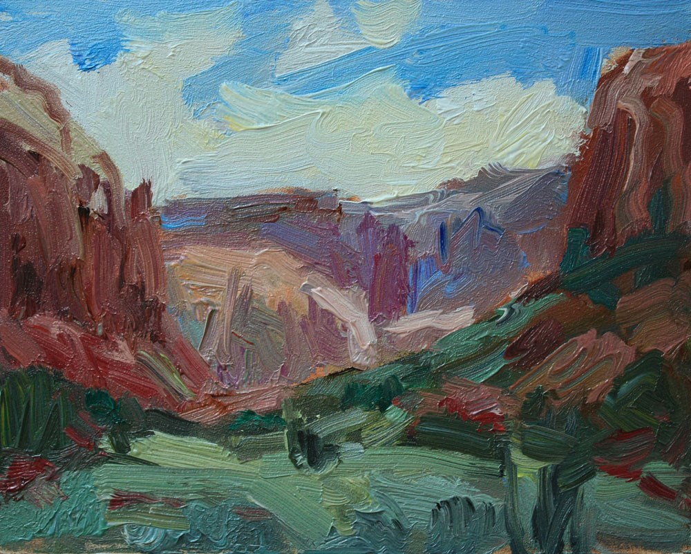 """Road to Needles"" original fine art by Kathryn Townsend"