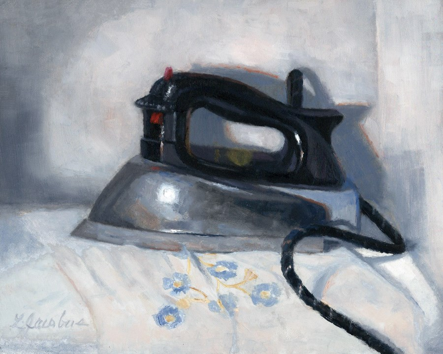 """Vintage Iron"" original fine art by Linda Jacobus"