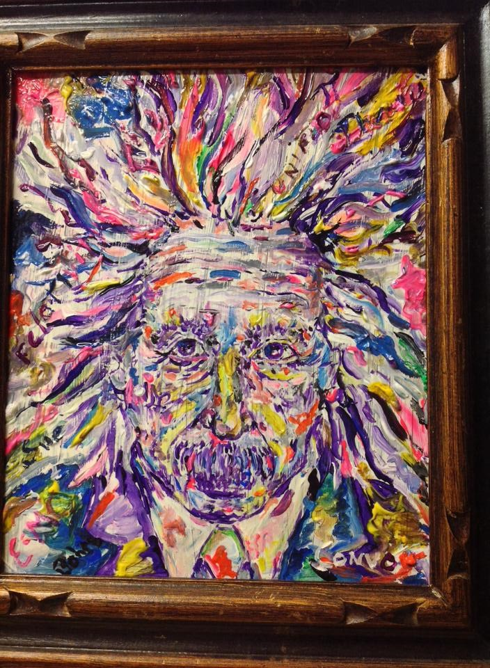 """Albert Einstien; You can call me Al"" original fine art by mark convoy"