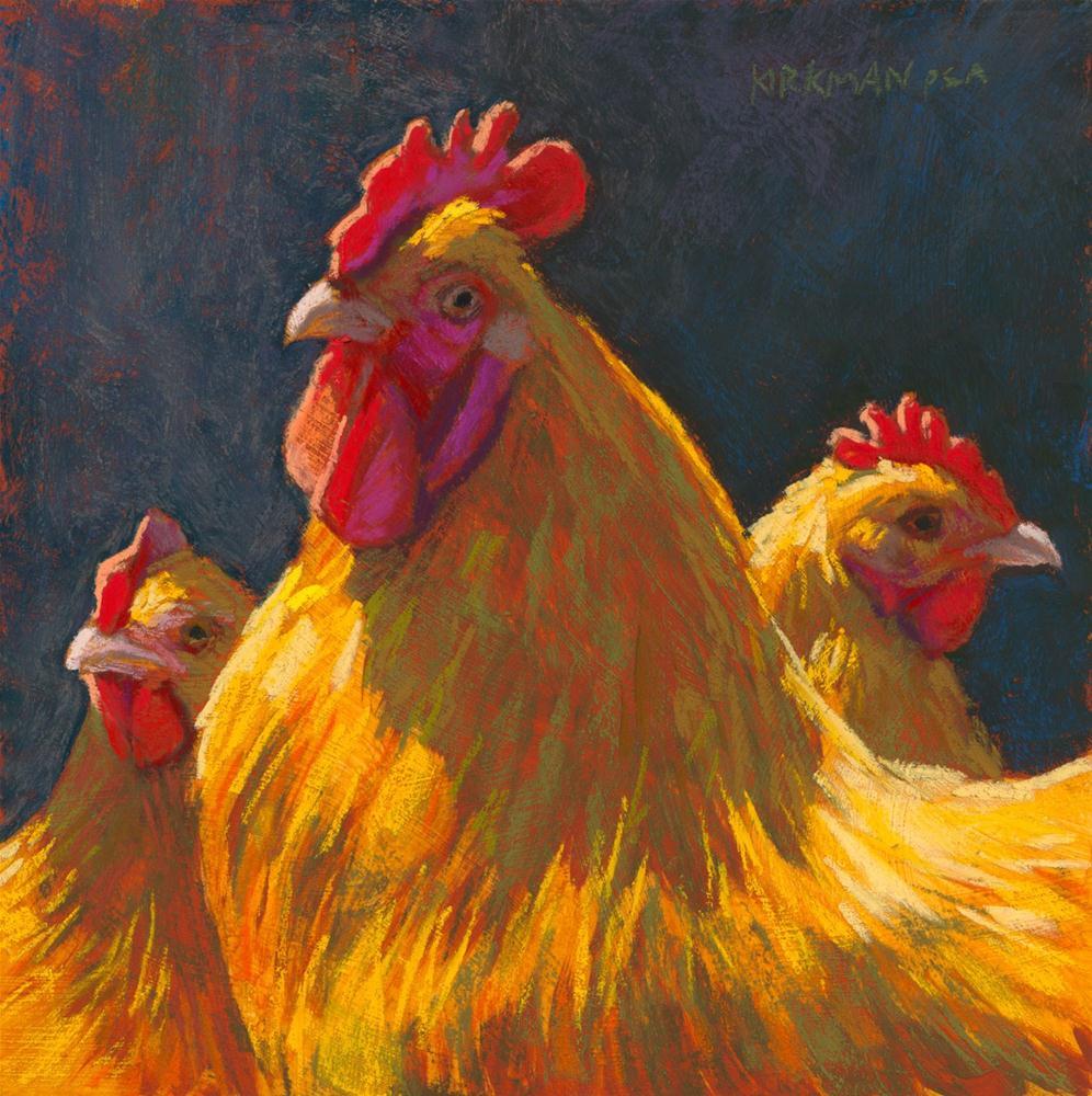 """Charlie's Chickens"" original fine art by Rita Kirkman"