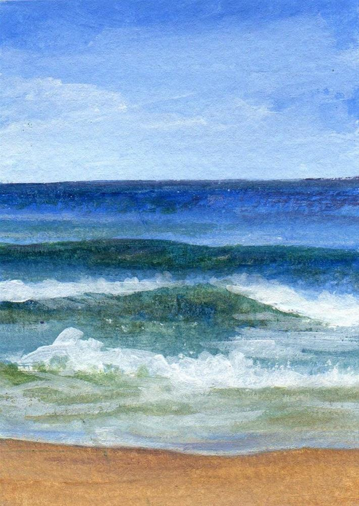 """Summer Shore"" original fine art by Debbie Shirley"