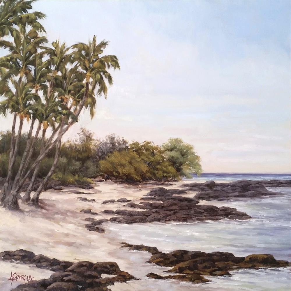 """""""Lazy Day at Kekaha Kai"""" original fine art by Jeannie Garcia"""