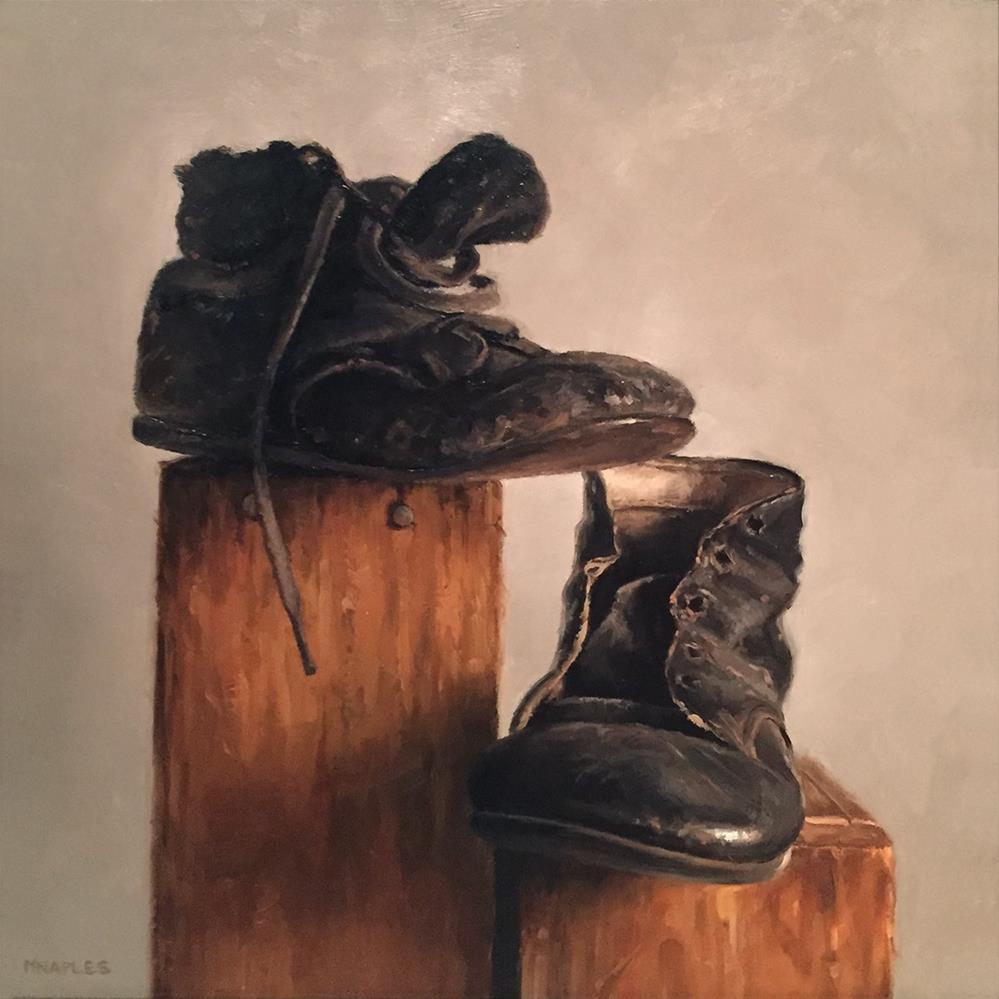 """""""Antique Shoe Boxes"""" original fine art by Michael Naples"""