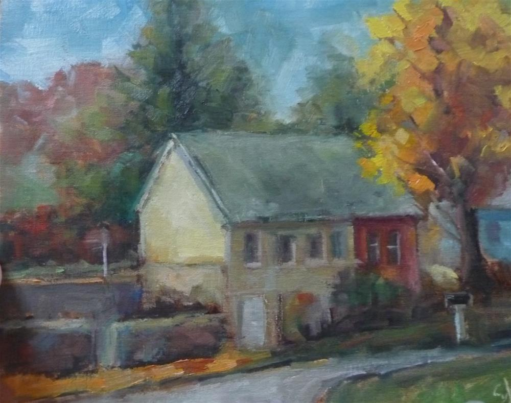"""House on the River"" original fine art by Carol Josefiak"