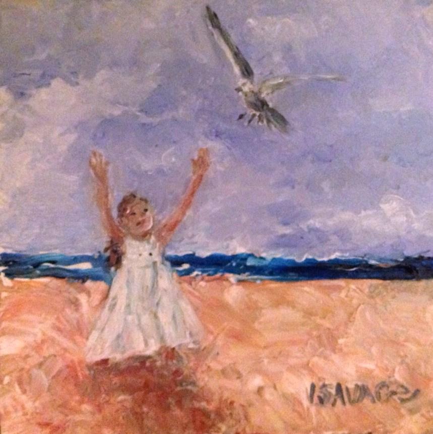 """Celebrate Life"" original fine art by Judy Usavage"