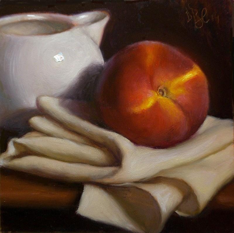"""""""Peach and Creamer"""" original fine art by Debra Becks Cooper"""