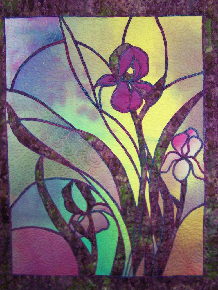 """Iris"" original fine art by Joan Reive"