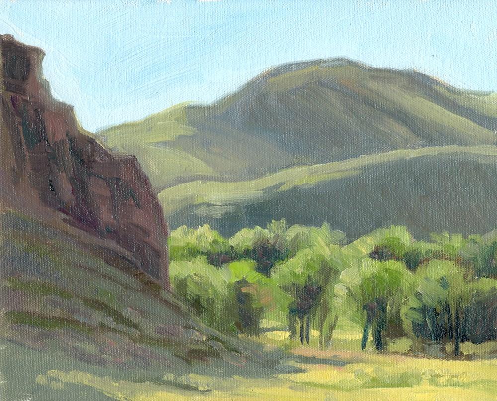 """Shadowed Cliffs"" original fine art by Kath Reilly"