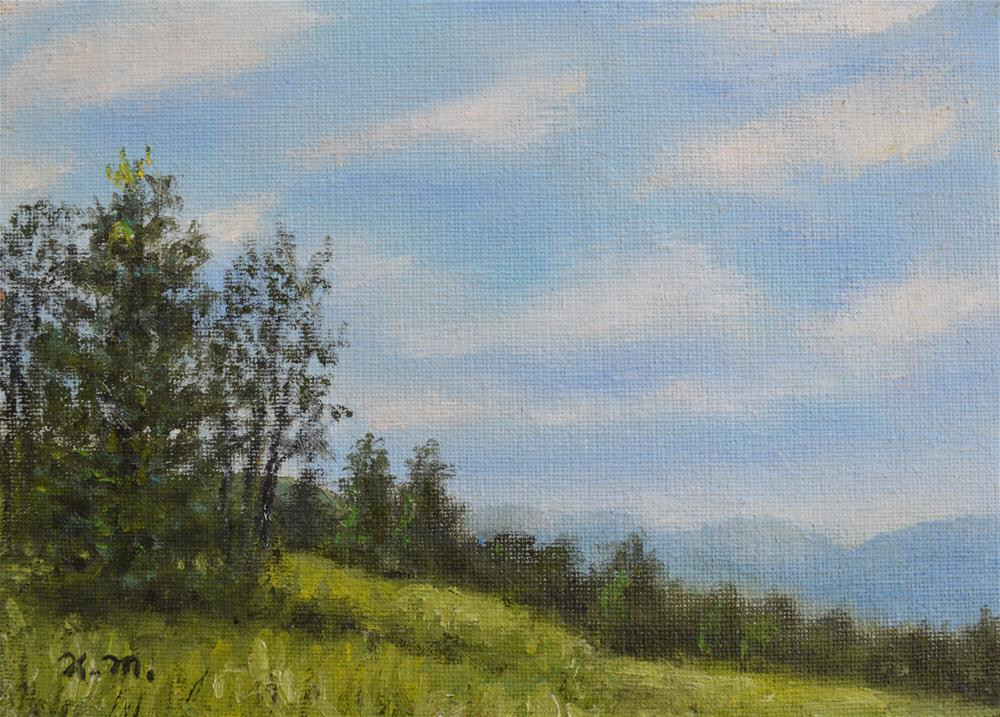 """Hilltop Meadow"" original fine art by Kathleen McDermott"