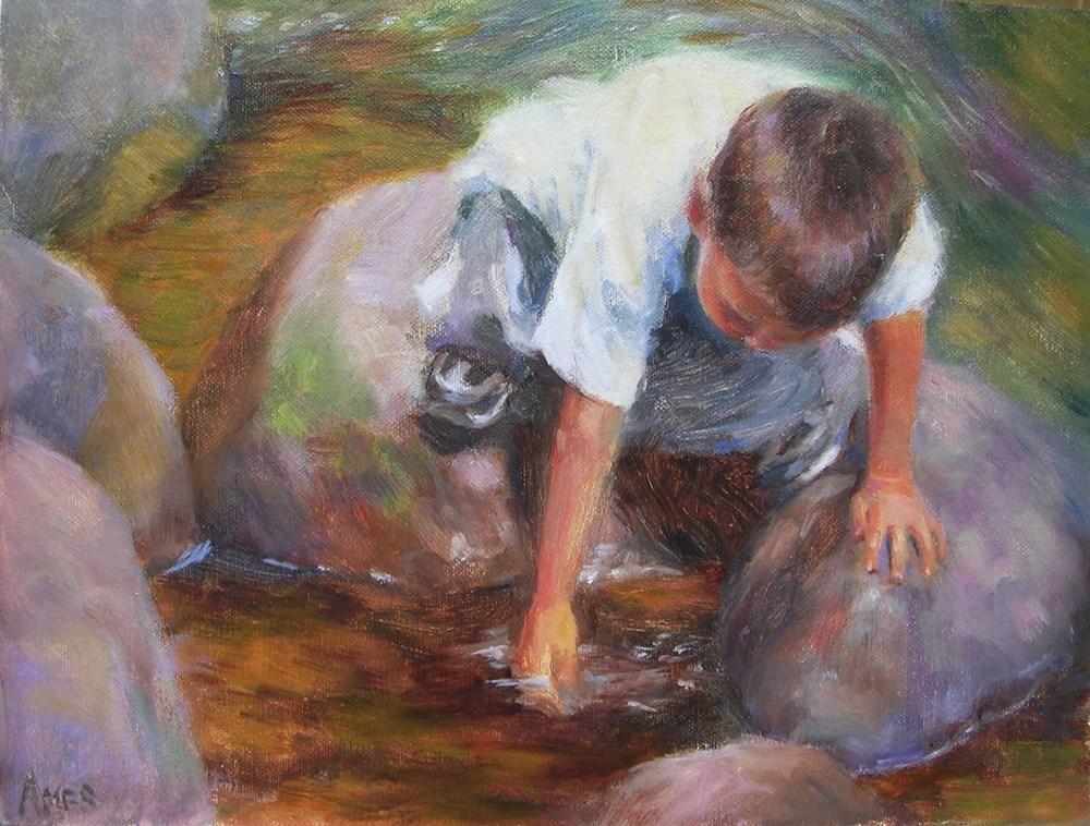 """The Explorer"" original fine art by Debra Ames"