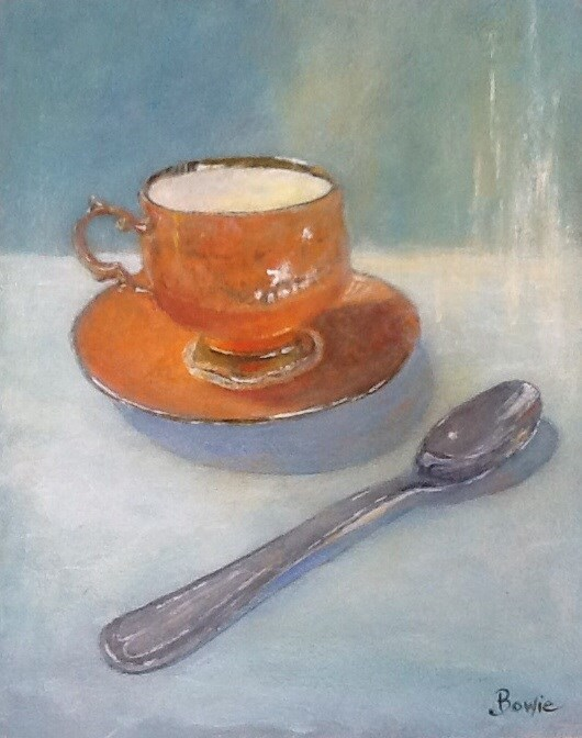 """Tea Time"" original fine art by Maureen Bowie"