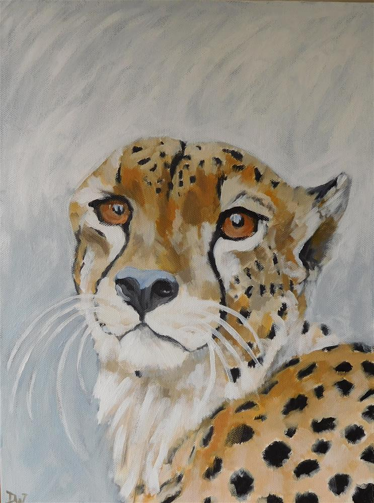 """C is for Cheetah"" original fine art by Daryl West"