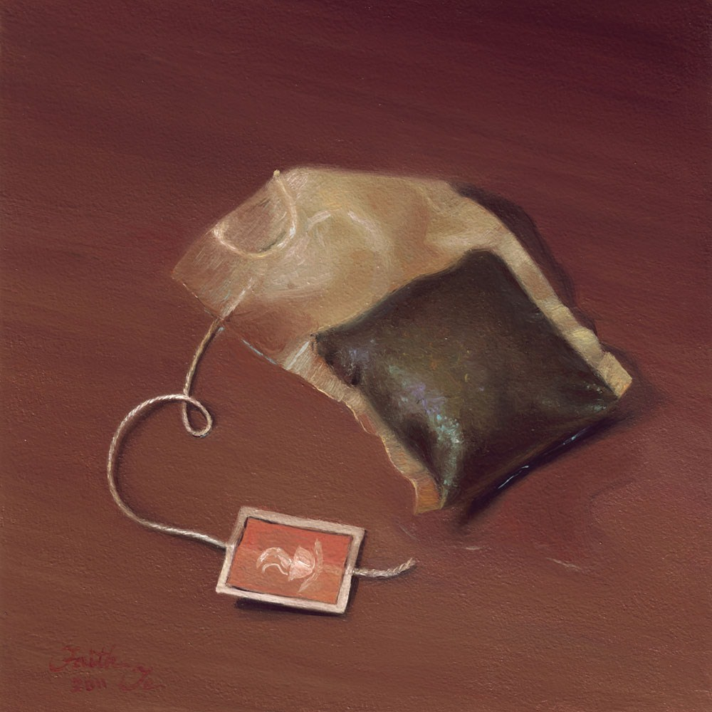 """Tea Bag No. 3"" original fine art by Faith Te"