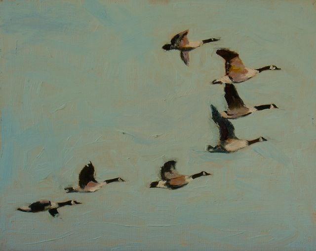 """Group Maneuvers"" original fine art by Susan Hammer"