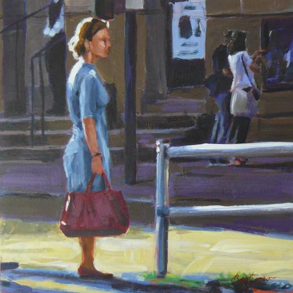 """""""040 Die rote Tasche"""" original fine art by Anja Berliner"""