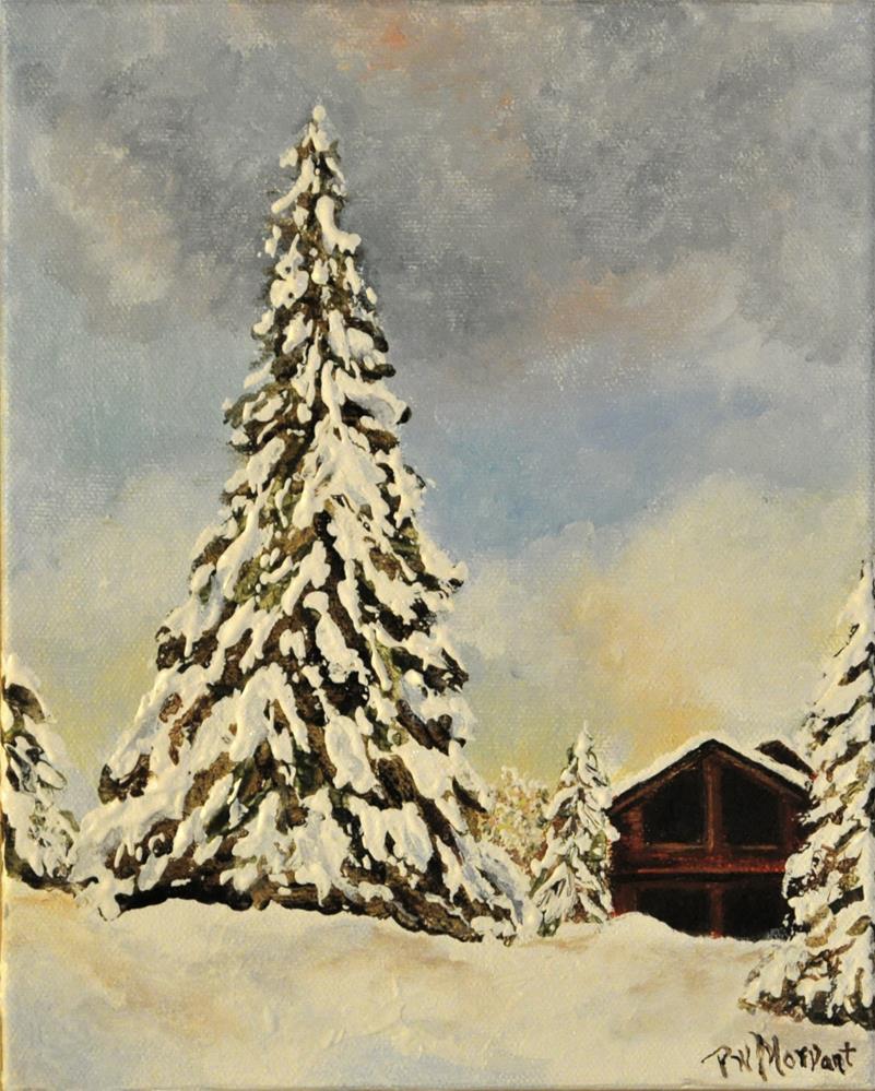 """""""Tahoe Winter"""" original fine art by Peggy W Morvant"""