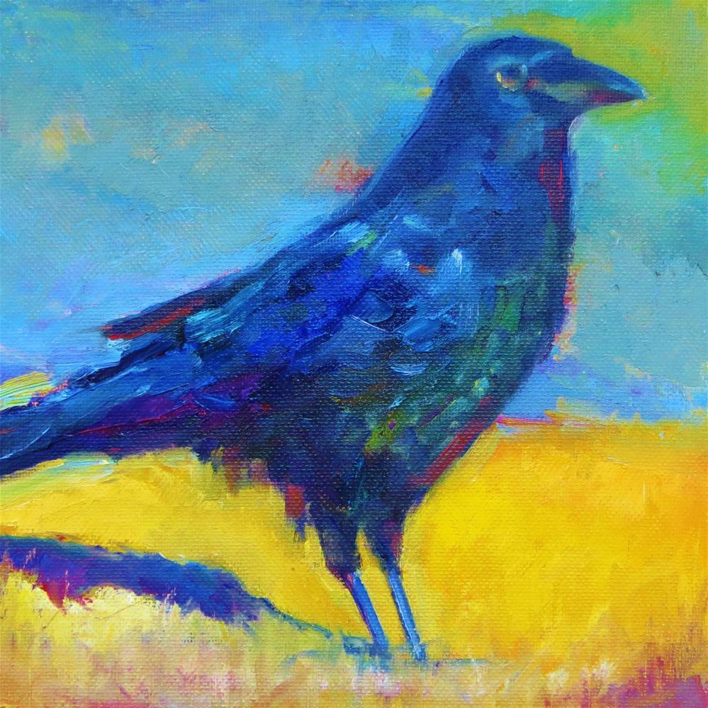 """Rakish Raven"" original fine art by Scarlet Owl Studio"